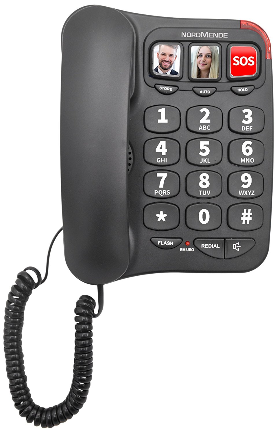 TELEFONO FISSO NORDMENDE EASY HOME100 BLACK